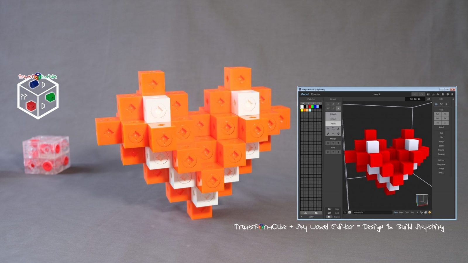 Voxel Editor and heart assembly