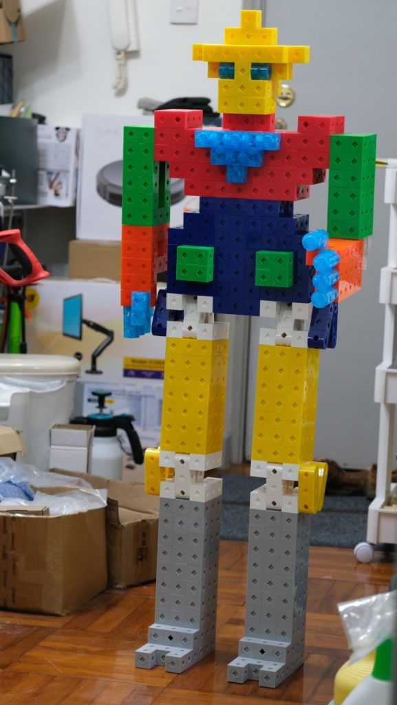 1.2M height robot (assembled by 30mm TransformCube)