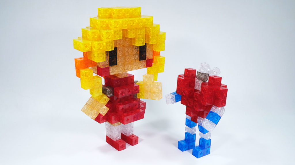 Girl and Heart Shape Robot