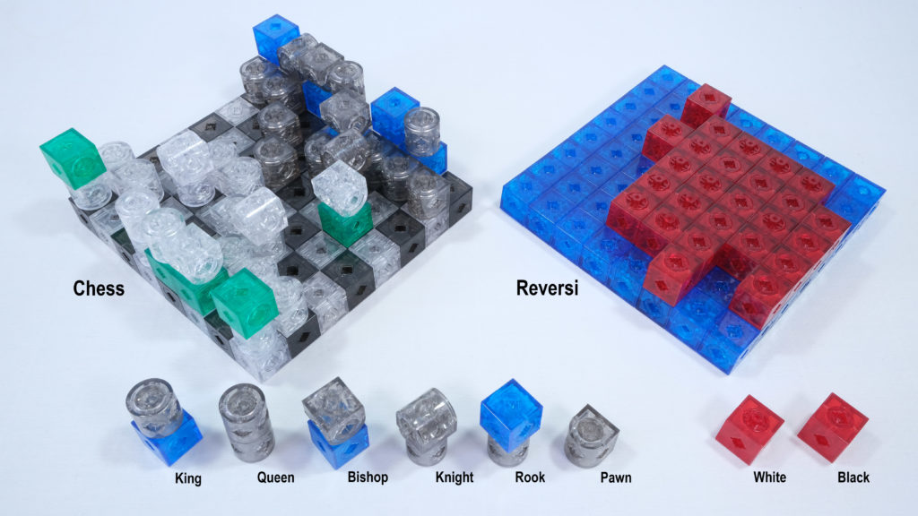 Assembly Chess and Reversi for traveling