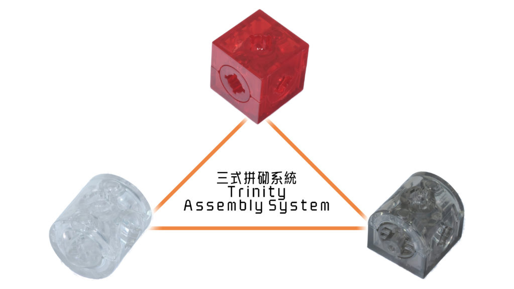 Trinity Assembly System - Arch ⩍, Block ☐ and Cylinder ⭕︎
