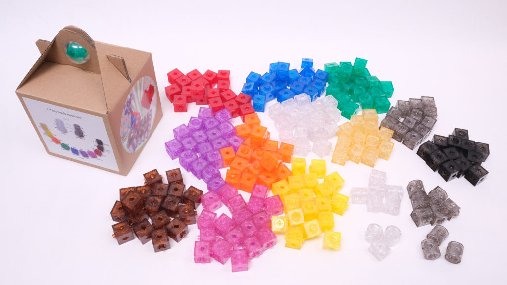 Small package contents of TransformCube building beads (216 pcs)