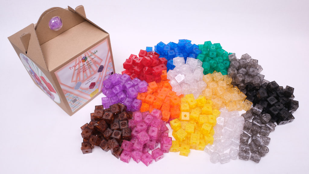 Large package contents of TransformCube building beads (512 pcs)