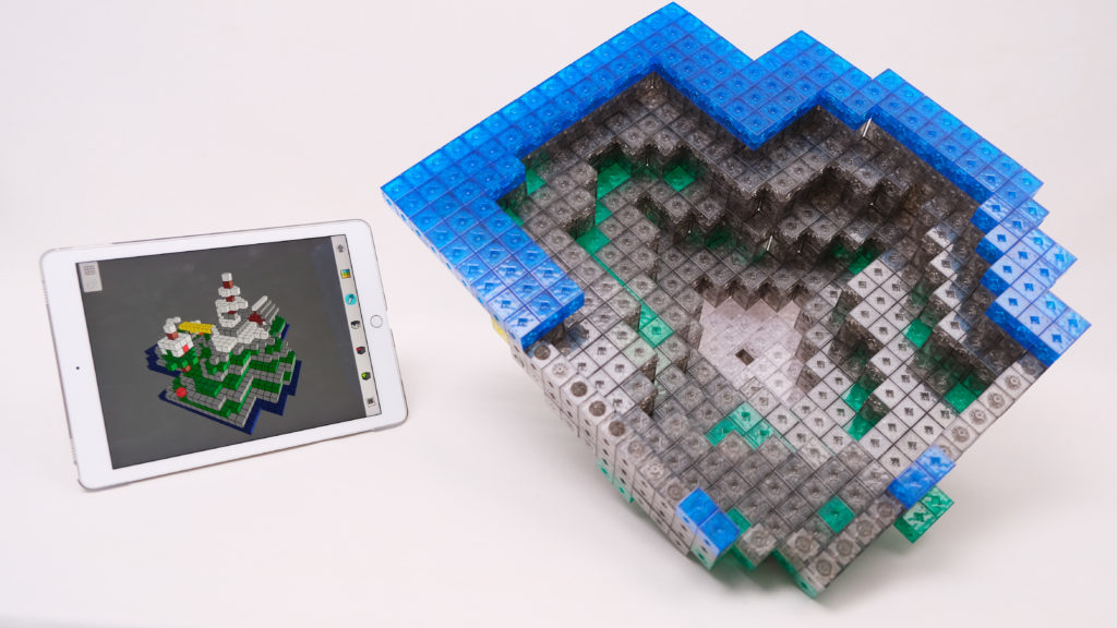 Portion of minecraft like mountain of island hollow underneath and its layering - hollow can save many beads
